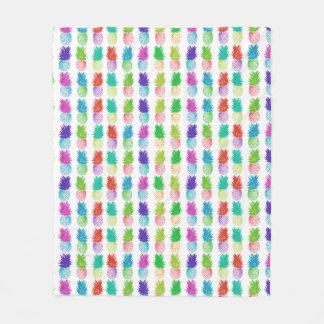Colorful pop art painting pineapple pattern fleece blanket