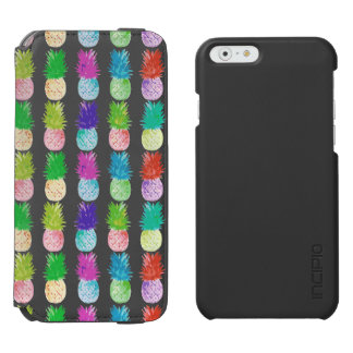 Colorful pop art painting pineapple pattern incipio watson™ iPhone 6 wallet case