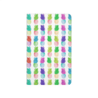 Colorful pop art painting pineapple pattern journal