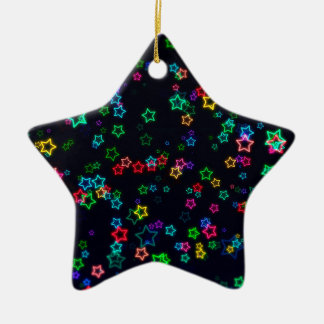 Colorful Pop Neon Star Ceramic Ornament