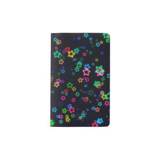 Colorful Pop Neon Star Pocket Moleskine Notebook