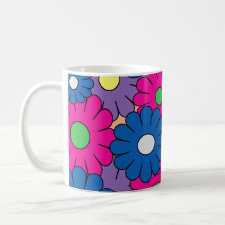 Colorful popart flower coffee mug
