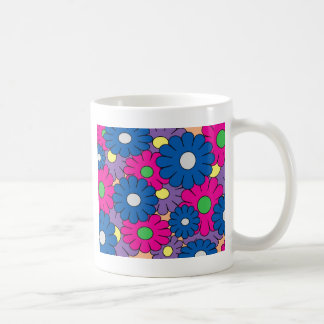 Colorful popart flowers pattern coffee mug
