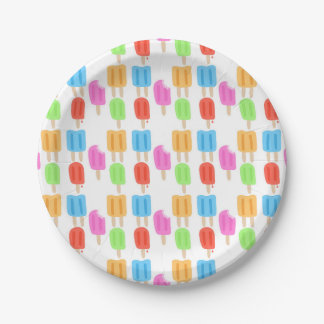 Colorful Popsicle Pattern Paper Plate