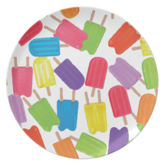Colorful Popsicles! Plate