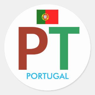 Colorful Portugal PT Circular Sticker