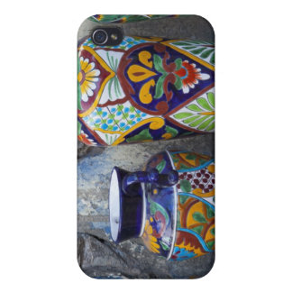 Colorful pottery for sale in downtown Loreto, iPhone 4 Covers