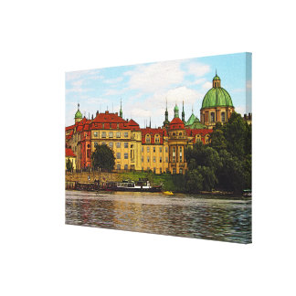 Colorful Prague Canvas Print