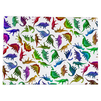 Colorful Prehistoric Dinosaurs Gift Bag