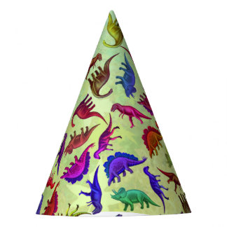 Colorful Prehistoric Dinosaurs Party Hat