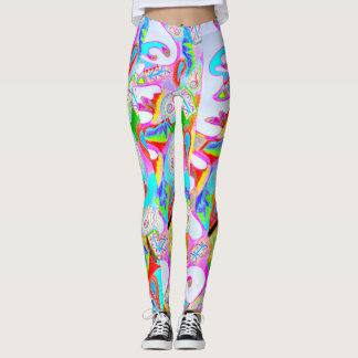 Colorful Printed Abstract Design Leggings
