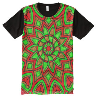 Colorful Protection Mandala Magick Art All-Over Print T-Shirt