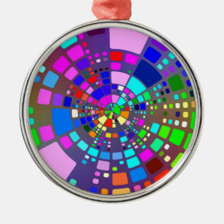 Colorful psychedelic #2 metal ornament