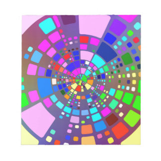 Colorful psychedelic #2 notepad