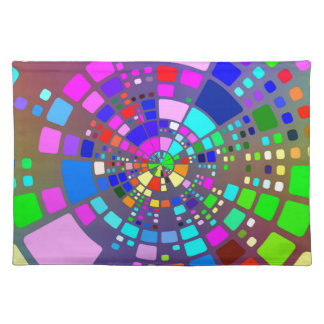 Colorful psychedelic #2 placemat