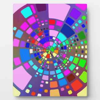 Colorful psychedelic #2 plaque