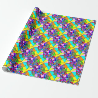 Colorful psychedelic #2 wrapping paper