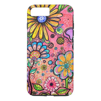 Colorful Psychedelic Flower Drawing iPhone 8 Plus/7 Plus Case