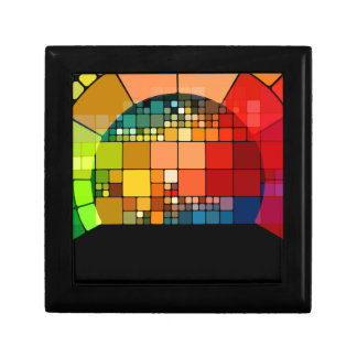 Colorful psychedelic gift box