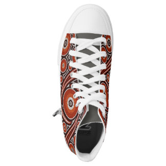 Colorful Psychedelic Mosaic Design High Tops