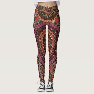 Colorful Psychedelic Mosaic Design Leggings