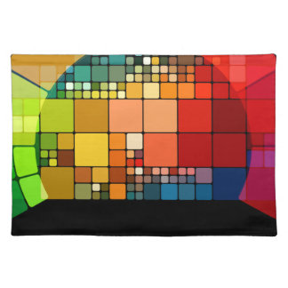 Colorful psychedelic placemat