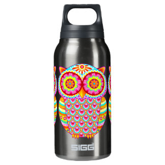Colorful Psychedelic Retro Owl Sigg Water Bottle