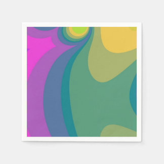 Colorful Psychedelic Swirls Disposable Serviette