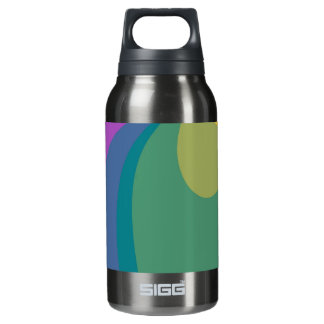 Colorful Psychedelic Swirls Insulated Water Bottle