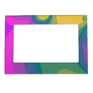 Colorful Psychedelic Swirls Magnetic Frame