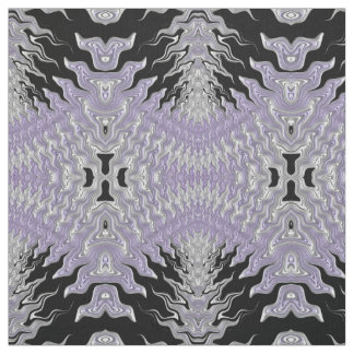 Colorful purple black white abstract pattern art fabric