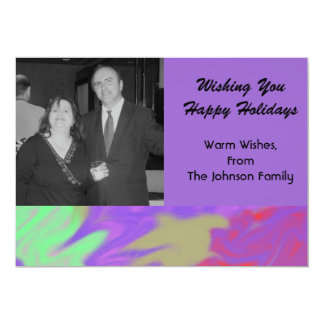 Colorful Purple Christmas 13 Cm X 18 Cm Invitation Card