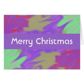 Colorful Purple Christmas Greeting Card