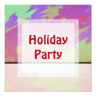 Colorful Purple Christmas 13 Cm X 13 Cm Square Invitation Card