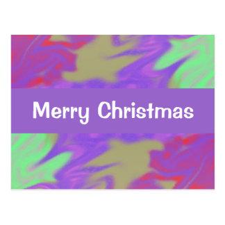 Colorful Purple Christmas Postcard