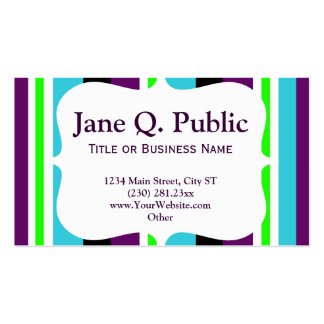 Colorful Purple Stripes Business Card Templates