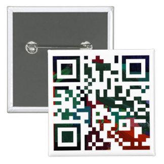 Colorful Q R Code 15 Cm Square Badge