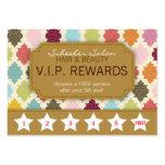 Colorful Quatrefoil - Salon Loyalty Rewards Card Business Cards