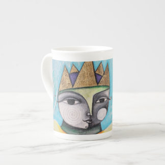 Colorful Queen Bone China Mug