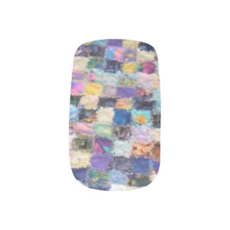 Colorful Quilt Finger Nail Decals