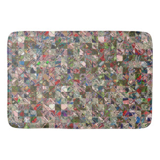Colorful Quilt Pattern Bath Mat