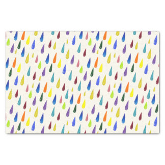 Colorful rain drops. Raindrop pattern Tissue Paper
