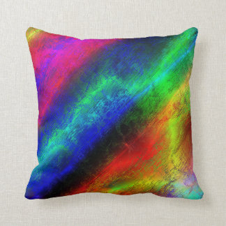 colorful rainbow abstract texture throw pillow