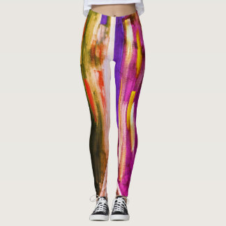 Colorful Rainbow Abstract Urban City Leggings