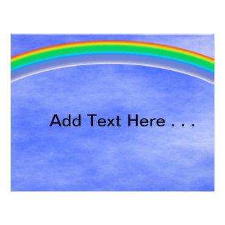 Colorful Rainbow and Blue Summer Sky 21.5 Cm X 28 Cm Flyer