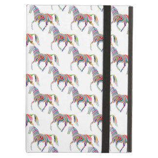 Colorful Rainbow Artistic Horse Pattern Case For iPad Air