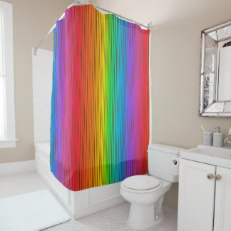 Colorful Rainbow Background Shower Curtain