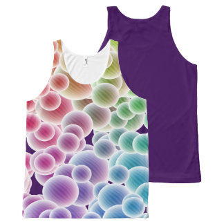Colorful Rainbow Bubbles All-Over-Print-Top All-Over Print Singlet