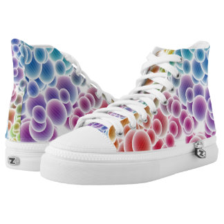 Colorful Rainbow Bubbles High Top Shoes Printed Shoes