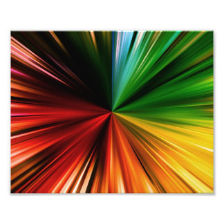 Colorful Rainbow Burst Abstract Digital Art Design Photo Print